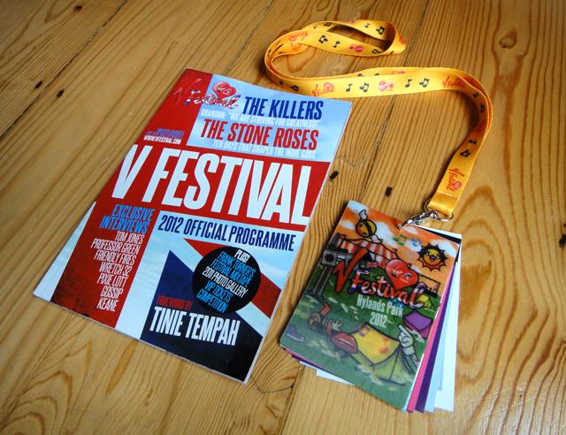 Publishing – V Festival Programme 2012