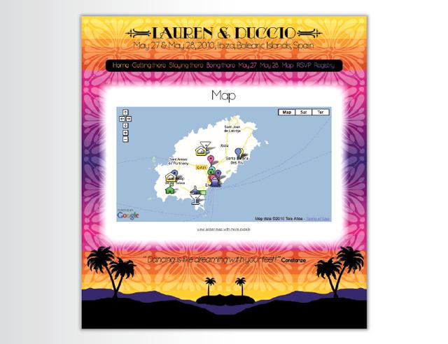 Website – An Ibiza wedding