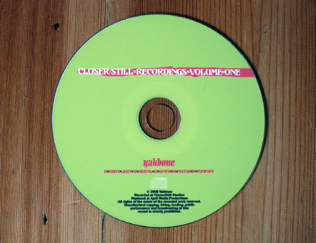 CD – Yakbone EP1- Closer Still Records